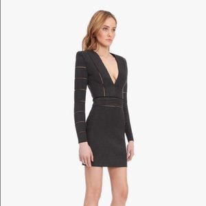 Balmain Paris knit mini black dress
